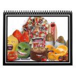 Pirámide extraña de Junk Food Calendario De Pared