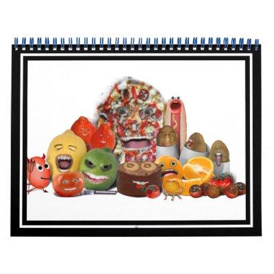 Pirámide extraña de Junk Food Calendarios