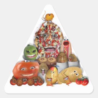 Pirámide extraña de Junk Food Calcomanías De Trianguladas