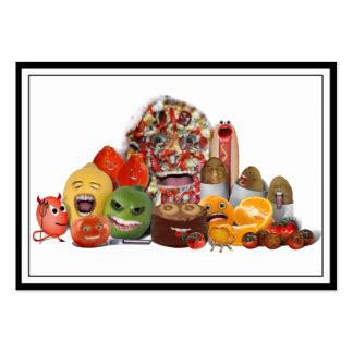 Pirámide extraña de Junk Food Tarjetas De Visita Grandes