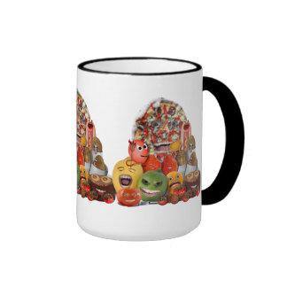 Pirámide extraña de Junk Food Tazas De Café