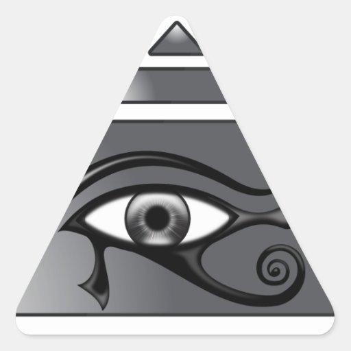 Piramide Horus Pegatina Triangular