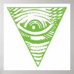 Pirámide invertida poster anti de Illuminati