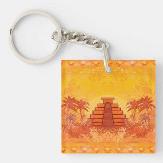Pirámide maya, llavero de México