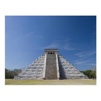 Pirámide maya, mañana en marzo postales