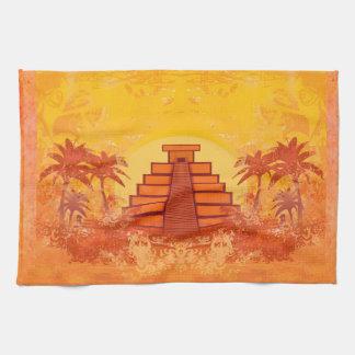 Pirámide maya, México TeaTowels Toalla