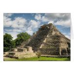 Pirámide maya tarjeta de felicitación