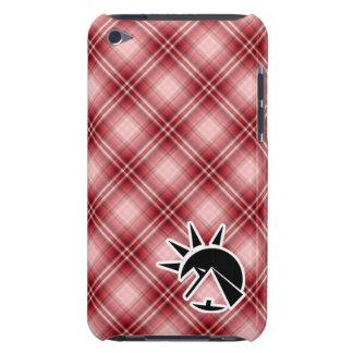 Pirámide roja del egipcio de la tela escocesa Case-Mate iPod touch protector