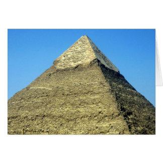pirámide superior del khafre tarjeta de felicitación