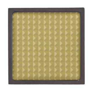 Pirámide tachonada oro caja de recuerdo de calidad