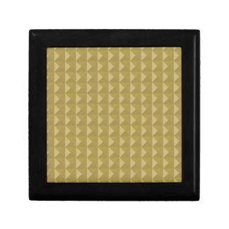 Pirámide tachonada oro caja de joyas