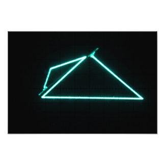 Pirámide verde grande impresiones fotográficas