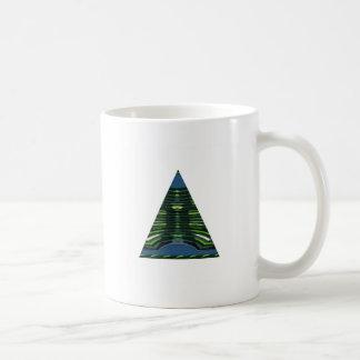 Pirámide VERDE NVN237 NavinJOSHI del triángulo de Taza
