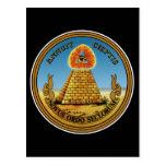 Pirámide y ojo - todo el ojo que ve - ~ del gran postal