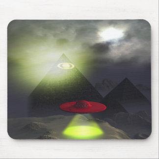 Pirámide y UFO Mousepad de Illuminati Alfombrillas De Ratones
