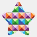 pirámides 3D Calcomanías Forma De Estrellaes Personalizadas
