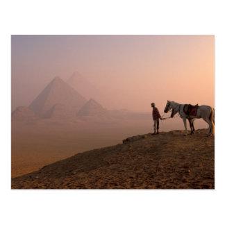 Pirámides de África, Egipto, El Cairo, Giza, Giza Tarjeta Postal