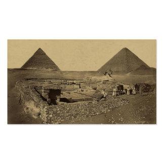 Pirámides de Cheops y de Cheffreu, y esfinge Tarjetas De Visita