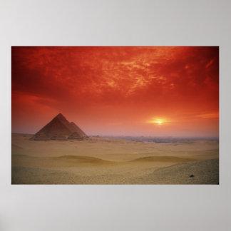Pirámides de Egipto con el Stargate Posters