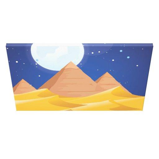 Pirámides de Egipto Lona Envuelta Para Galerias