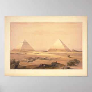 Pirámides de Geezeh Póster