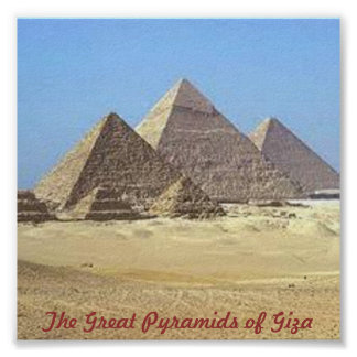 Pirámides de Giza Póster