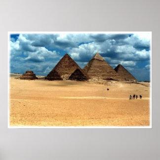 Pirámides de Gizeh Póster