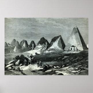 Pirámides de Meroe, en el Nilo Poster