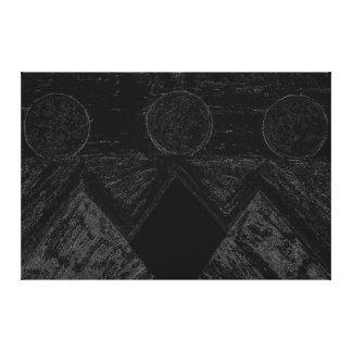 Pirámides de otros mundos en el blanco negro C1 Impresion De Lienzo