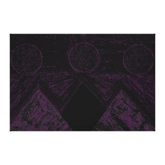 Pirámides de otros mundos en el negro púrpura P1 Impresión En Lona