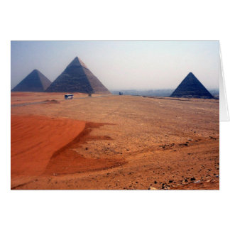 pirámides del desierto tarjeta de felicitación