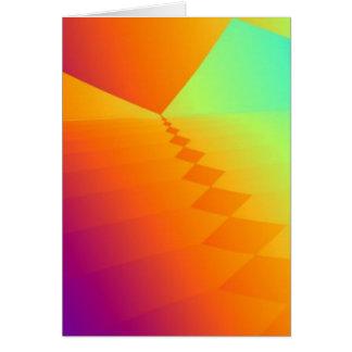 Pirámides del fractal tarjeta de felicitación