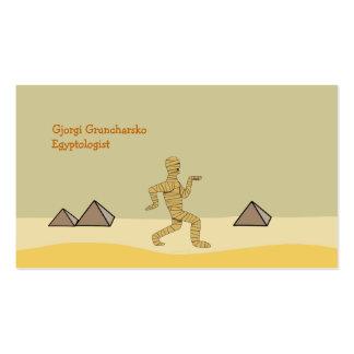 Pirámides egipcias de la momia del dibujo animado plantilla de tarjeta de negocio