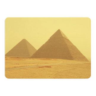 """Pirámides egipcias invitación 5"""" x 7"""""""