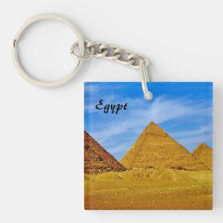 Pirámides egipcias llavero cuadrado acrílico a una cara