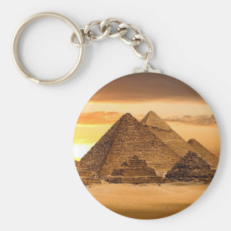 Pirámides egipcias llavero redondo tipo pin