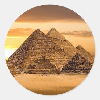 Pirámides egipcias pegatina redonda
