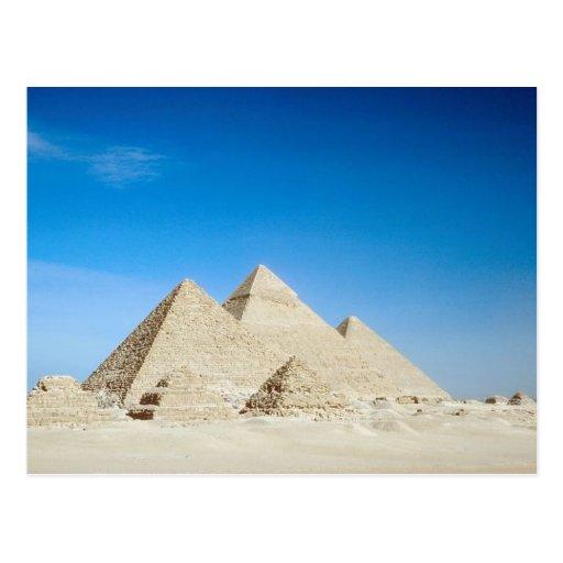 Pirámides egipcias postal