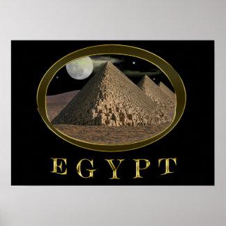 pirámides egipcias póster
