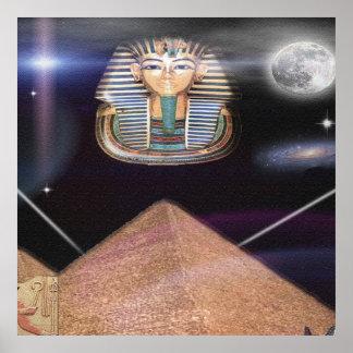 Pirámides egipcias y arte de rey Tut Impresiones