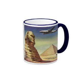 Pirámides Egipto Giza del desierto del aeroplano d Taza De Café