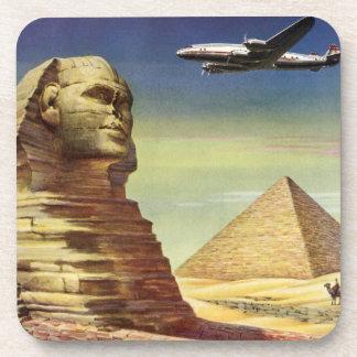 Pirámides Egipto Giza del desierto del aeroplano Posavaso