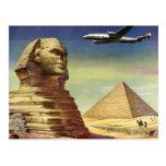 Pirámides Egipto Giza del desierto del aeroplano Postal
