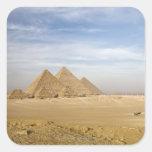 Pirámides El Cairo, Egipto Pegatina Cuadrada