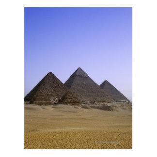 Pirámides en el desierto El Cairo, Egipto Postales