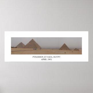 Pirámides en Giza, Egipto Poster