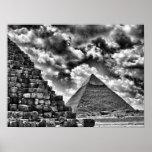 Pirámides en Giza, El Cairo, Egipto Posters