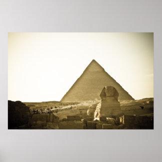 Pirámides en Giza en El Cairo, Egipto Impresiones