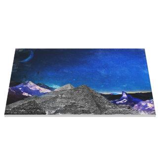 Pirámides lunares impresión en tela