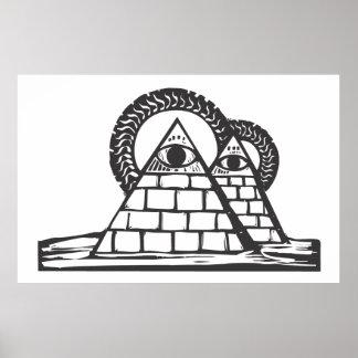 Pirámides masónicas póster